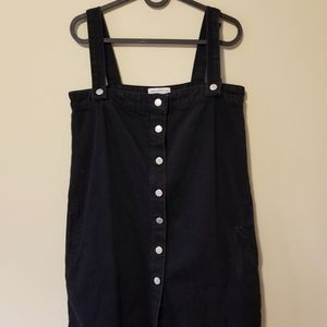Urban Outfitters Black Heavy Denim Overall Dress